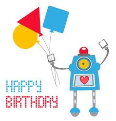 Robot card vector image