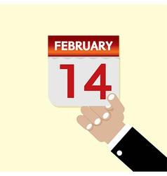 14th February Calendar vector