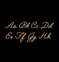 3d gloden blend font vector image
