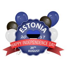 a ribbon for estonia vector image
