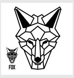 abstract linear polygonal head a fox vector image