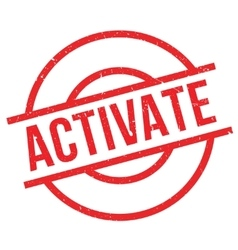 Activate rubber stamp vector image