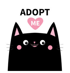 Adopt me dont buy black cat face silhouette pink vector
