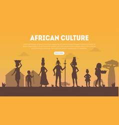 African culture landing page template vector