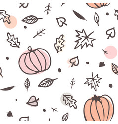 autumn seamless pattern yellow and green fall vector image