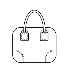 Bag flat linear icon of a fashion accessory vector