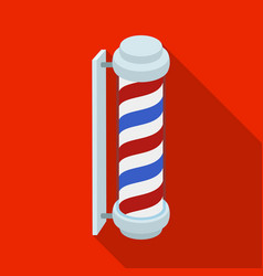 barber logobarbershop single icon in flat style vector image