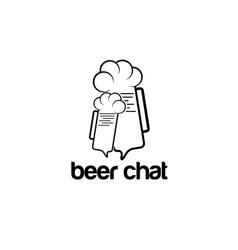 beer chat concept design template vector image
