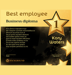 Best monthly employee business diploma recognition vector