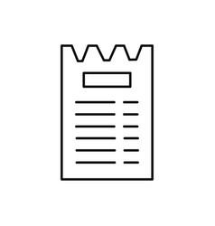 bill icon vector image