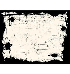 Black and white grunge border vector