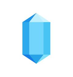 blue diamond icon flat style vector image