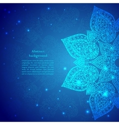 Blue Vintage Indian Ornament vector image