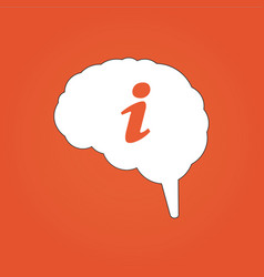 brain with info icon can be used for web design vector image
