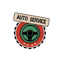 Car service labels vector
