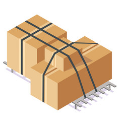 cardboard boxes carton container image vector image