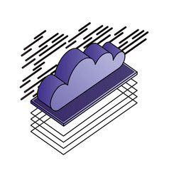 cloud computing isometric storage data vector image