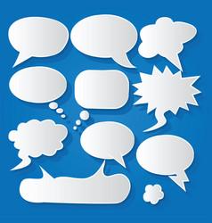 Comic bubble speech balloons speech cartoon 196 vector