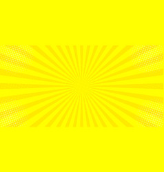 comic yellow sun rays background pop art retro vector image