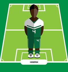 Computer game Nigeria Football club player vector