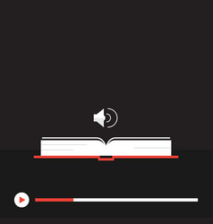 concept of audio book vector image