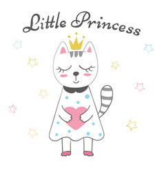 cute little princess - baby vector image