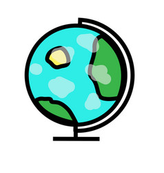 earth planet globe with white clouds vector image