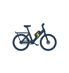 electric bike electro bicycle icon vector image