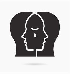 empathy icon on white background vector image