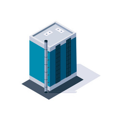 factory isometric industrial building 3d isolated vector image