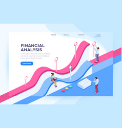 finance visualization and analysis vector image