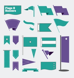 Flags and Banners vector