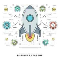 Flat line Business Concept vector