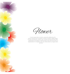 floral spring graphic design - with colorful vector image