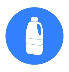 Gallon plastic milk bottle icon in black style vector