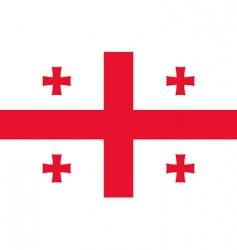 georgia flag vector image