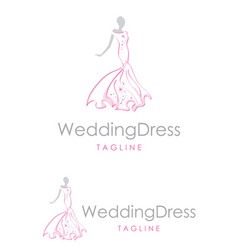 glitter wedding dress vector image