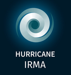 Graphic banner of hurricane irma vector