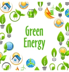 Green Energy eco environment poster vector