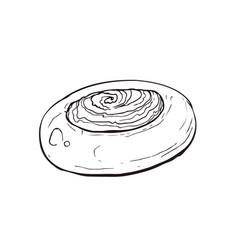 hand drawn bread vector image