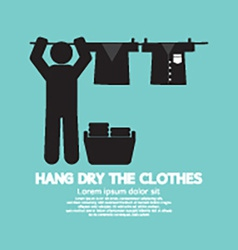 Hang The Clothes On A Clothesline vector image