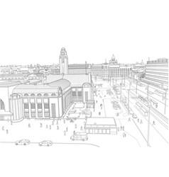helsinki railway station vector image