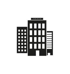 hotel travel black icon vector image