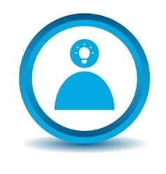Idea icon 2 blue 3D vector