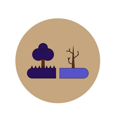 In flat design of drought vector
