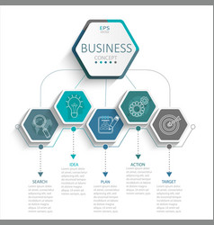 Infographic for business vector