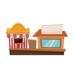 Isolated tent and store design vector