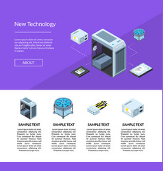 isometric electronic devices website page vector image
