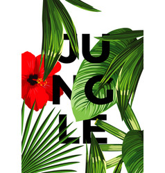 jungle poster vector image