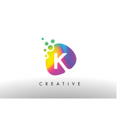 K colorful logo design shape purple abstract vector